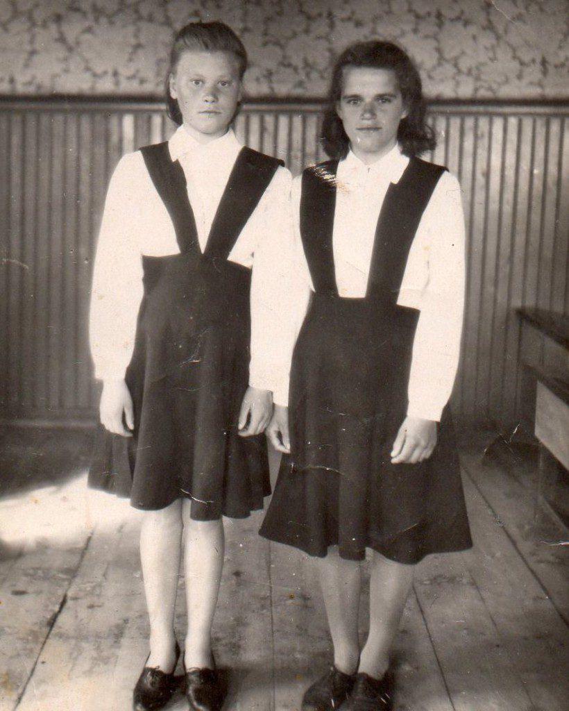 Л. Кубасова с Машей Поповой
