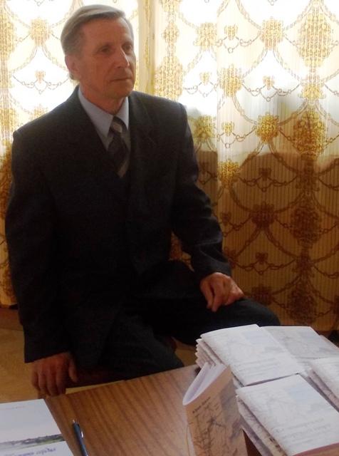 Ю.П. Лежнев на презентации первого издания. 2013 г. Фото С. Кошкиной