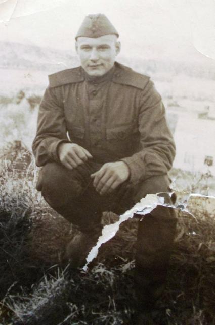 Владимир Константинович Короткий во время службы в армии. Выборг. 25 января 1963 г.