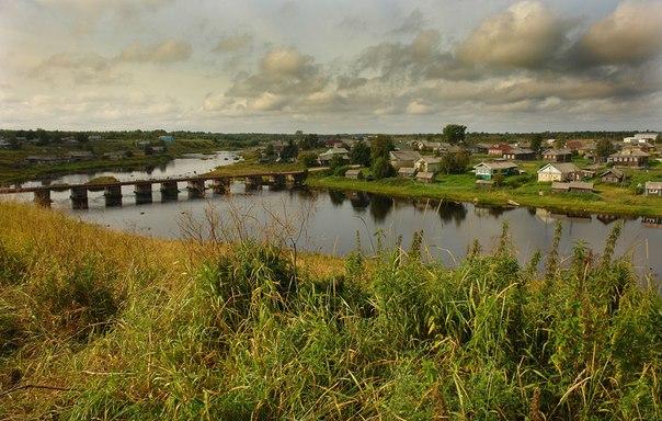 Село Нюхча Беломорского района Республики Карелия. Фото Виктора Дрягуева