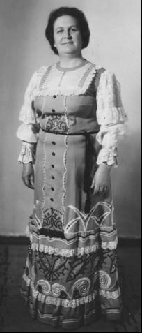Валентина Щелина, участница Поморского народного хора