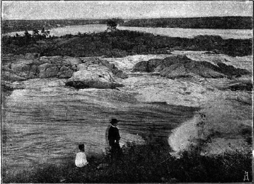Река Кемь. Из книги Случевского К. «По северу России». Том II. 1886 г.