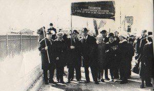На демонстрации. Беломорск. 1мая 1971 г.