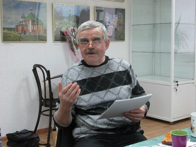 Борис Ильютик в Центре поморской культуры. 7 марта 2016 г. Фото С. Кошкиной