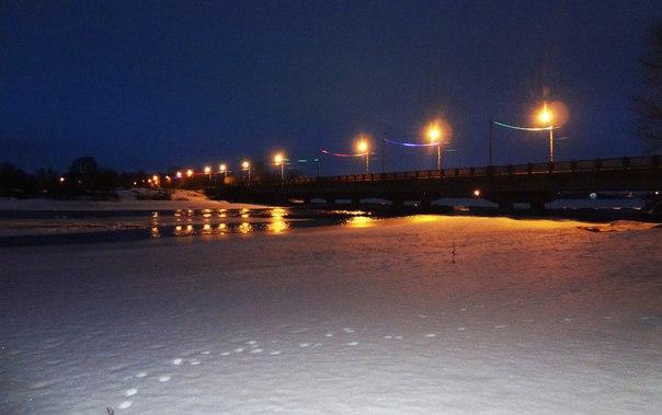 Вечерний мост. Беломорск. 2016 г. Фото Т. Каньшиевой