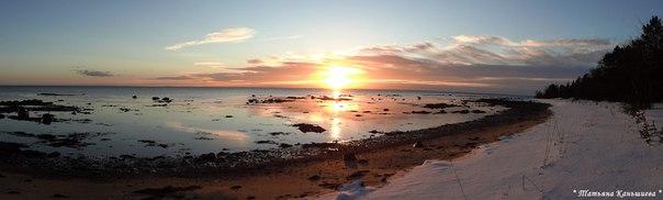 Солнце встает. Белое море. Фото Т. Каньшиевой