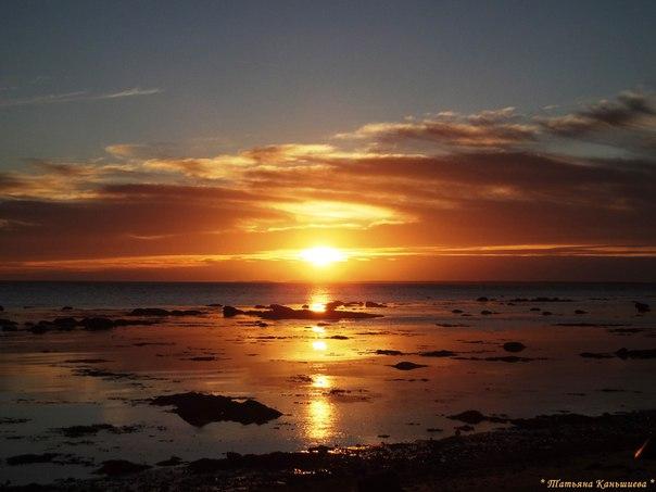 Утренняя зорька. Белое море. Фото Т. Каньшиевой