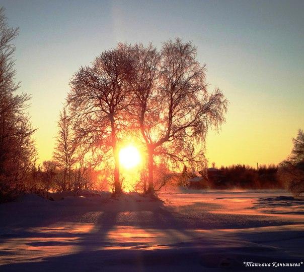 Чудесное зарево заката. Фото Т. Каньшиевой