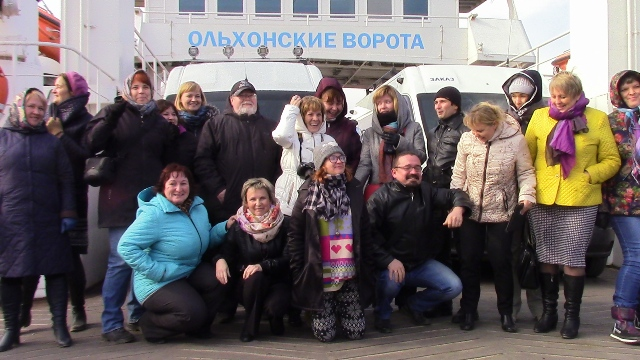 Переправа через Байкал на остров Ольхон