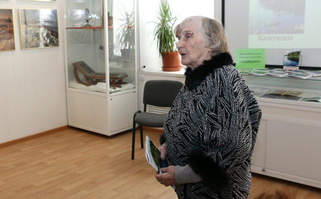 Роза Яковлевна Тарутина. Беломорск, Центр поморской культуры, 22 февраля 2017 г. Фото Виктора Дрягуева